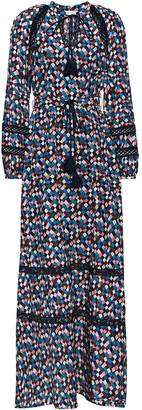 Tory Burch Printed Cotton And Silk-blend Maxi Dress