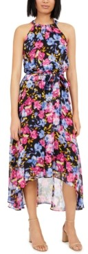 INC International Concepts Inc Floral Halter Maxi Dress, Created for Macy's