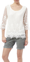 Ella Moss Lace Over Lining Top
