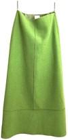 Iceberg Green Wool Skirt for Women