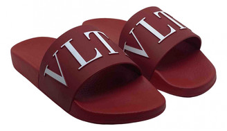 Valentino Red Plastic Sandals
