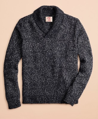 Brooks Brothers Cotton-Blend Shawl-Collar Sweater