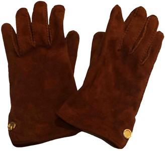 Gucci Camel Suede Gloves