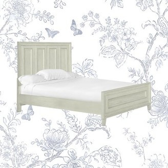 Kelly Clarkson Home Jarman Low Profile Standard Bed Size: California King, Color: Weathered White