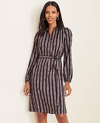 Ann Taylor Petite Chain Link Shirtdress