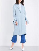 Topshop Plisse woven duster coat