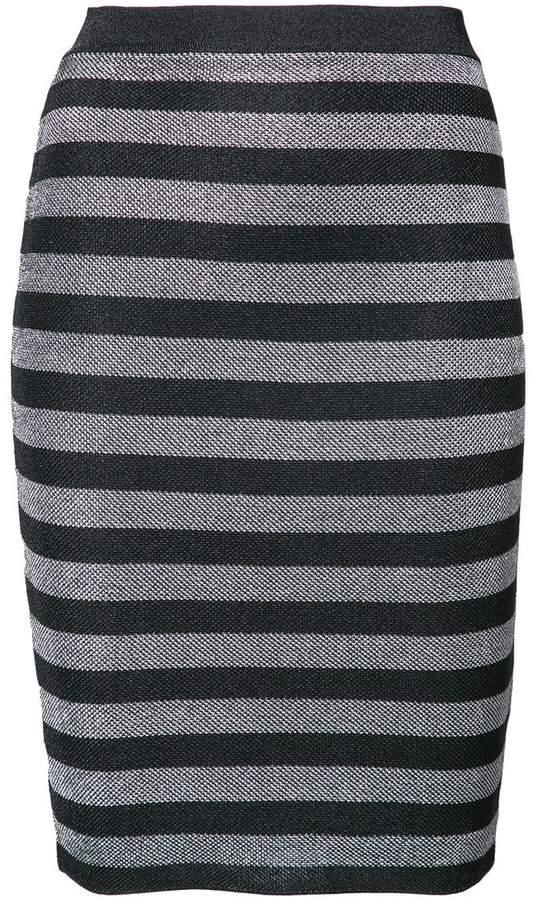Alexander Wang fitted striped skirt