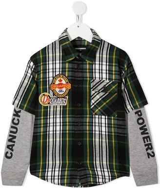 DSQUARED2 Layered Shirt