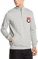 Wrangler Men's Half Zip Funnel Neck Long Sleeve Sweatshirt