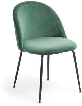 La Forma Australia Gianni Dining Chair Emerald Velvet