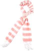 Striped Woven Scarf  Fringe