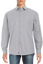 Strellson Jayden Cotton Geo-Patterned Button-Front Shirt