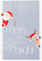Lydell NYC Circle Necklace with Merry & Bright Card