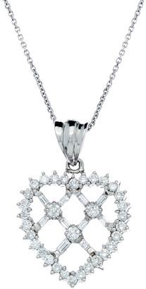 Diana M 14K 1.50 Ct. Tw. Diamond Heart Necklace