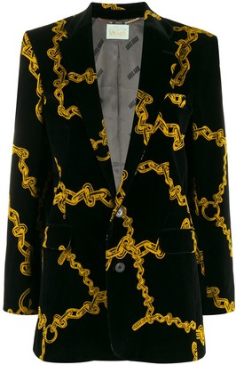 Aries Chain Print Blazer