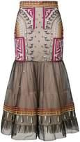 Temperley London Maze flared skirt