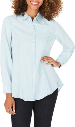 Foxcroft Juliet Chambray Button-Up Shirt