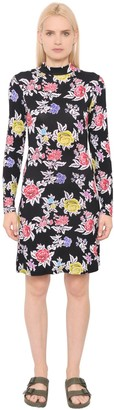 House of Holland Rose Printed Viscose Jersey Dress