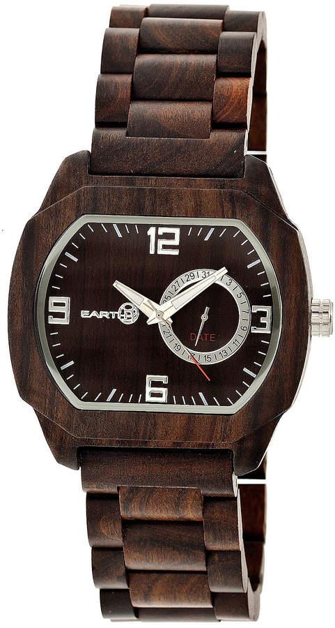 Earth Wood Scaly Dark Brown Bracelet Watch with Date ETHEW2102