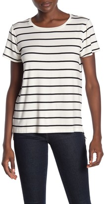 Halogen New Step Hem Crew Neck T-Shirt (Regular & Petite)
