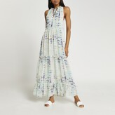 Thumbnail for your product : River Island Womens Blue tiered tie dye maxi dress
