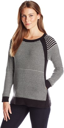 Heather B Women's Stripe with Pockets Pullover