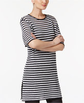 Eileen Fisher Organic Linen Striped Tunic