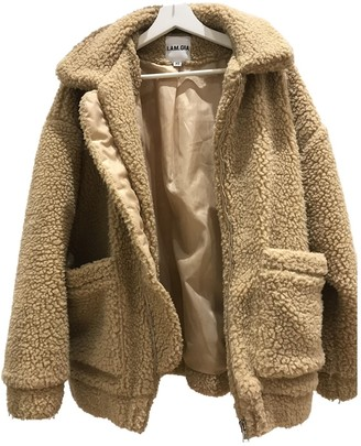 I.AM.GIA Beige Polyester Coats