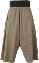 Bless tweed wide leg cropped trousers
