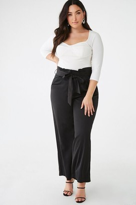 Forever 21 Plus Size Paperbag Pants