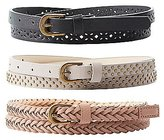 Charlotte Russe Plus Size Faux Leather Belts - 3 Pack