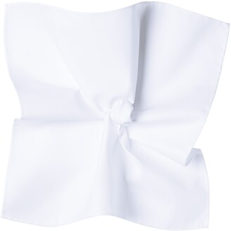 Suitsupply White Cotton Pocket Square