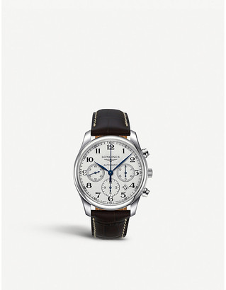 Longines L2.759.4.78.5 Master Collection stainless steel chronograph watch, Mens
