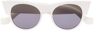 Tol Eyewear White Icon cat eye sunglasses