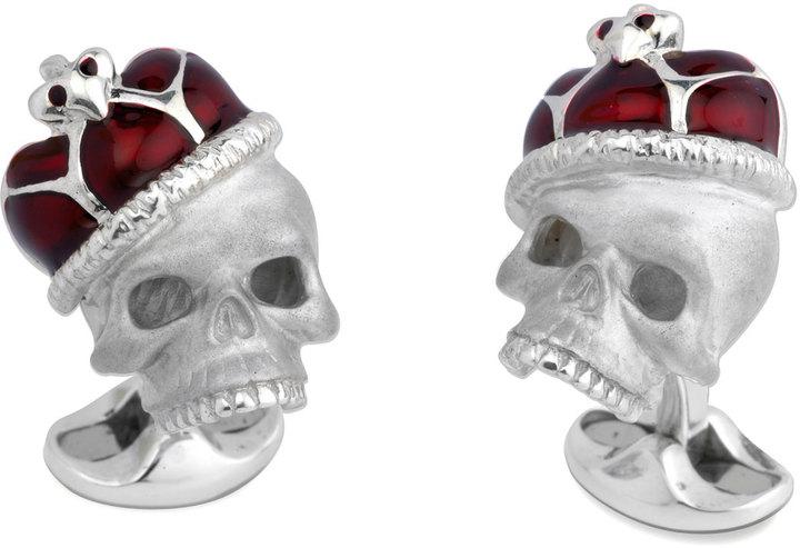 Deakin & Francis Crowned Skull Cuff Links