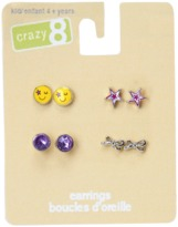 Crazy 8 Emoji Earrings 4-Pack