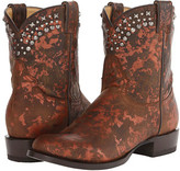 Stetson Metallic Splatter Round Toe Ankle Boot