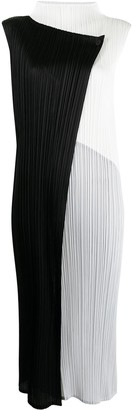 Pleats Please Issey Miyake Collage plisse-effect dress