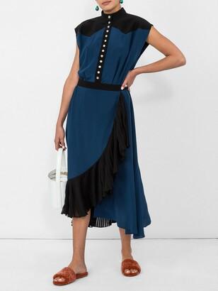 Givenchy ruffle trim wrap dress