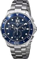 Tag Heuer Men's Aquaracer Dial Watch Blue CAN1011.BA0821