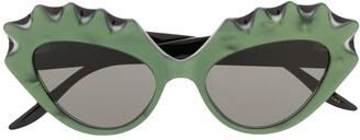 Gucci Spoked Edges Cat-Eye Sunglasses
