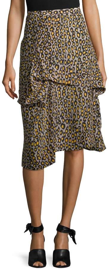 Derek Lam Women's Asymmetric Drape Skirt