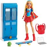 Barbie DC Comics Super Hero Girls Supergirl X-Ray Vision Action Doll & School Lockers Set