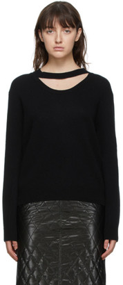 System Black Wool Cut-Out Sweater