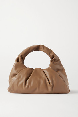 Bottega Veneta The Shoulder Pouch Gathered Leather Bag - Light brown
