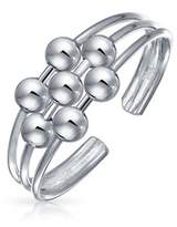 Bling Jewelry 3 Row Wire 7 Bead Toe Ring Adjustable 924 Silver Midi Rings.