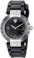 Versace Women's 92QCS91D008 S009 Rave Black Ceramic Stainless-Steel Rubber Watch