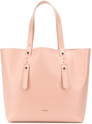 Hogan logo shopper tote
