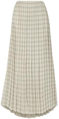 The Row Tulu Pleated Printed Silk-crepe Maxi Skirt