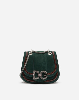 Dolce & Gabbana Small Amore Bag In Mixed Materials